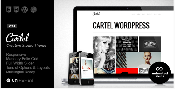 cartel clique Best Responsive WordPress Portfolio themes wpshopmart