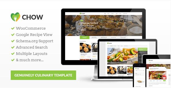 chow Best Responsive WordPress Food Themes wpshopmart