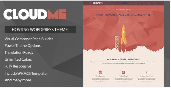 cloud me Best Hosting WordPress Themes wpshopmart