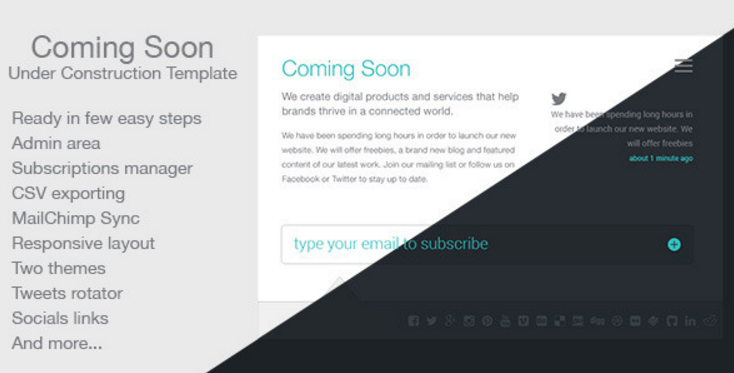 coming soon Best Html Coming Soon And Under Construction Templates