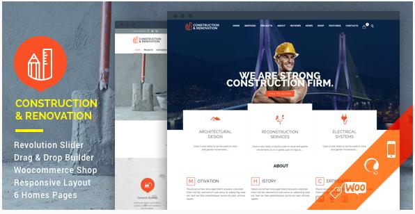 construction Construction Company WordPress Themes wpshopmart