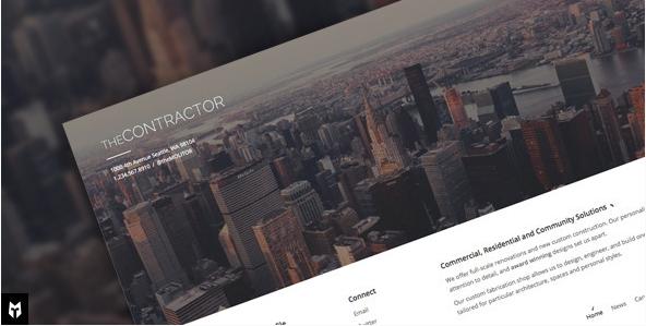 contactor Construction Company WordPress Themes wpshopmart