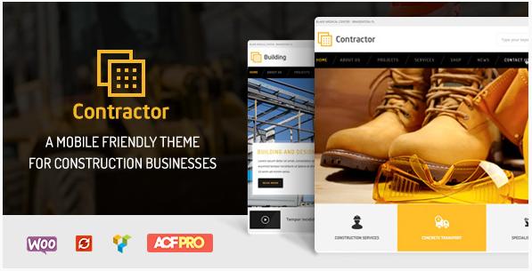 contractor Construction Company WordPress Themes wpshopmart