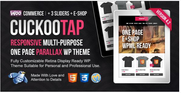 cucoo tap Best Responsive WordPress Parallax Themes
