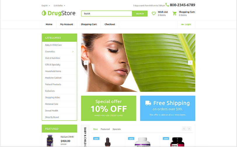 Drugster: Best OpenCart eCommerce Themes