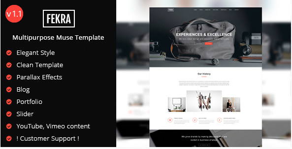 fekra Popular Muse Templates
