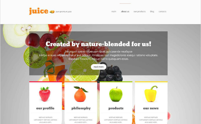 food and drink Best Responsive WordPress Food Themes