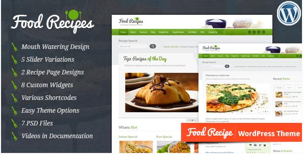 food recipes Best Responsive WordPress Food Themes wpshopmart