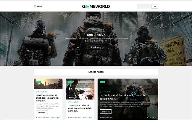 Gameworld: Best WordPress Gaming Themes