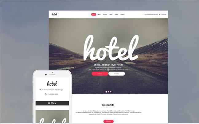 hostel Best Responsive WordPress Parallax Themes