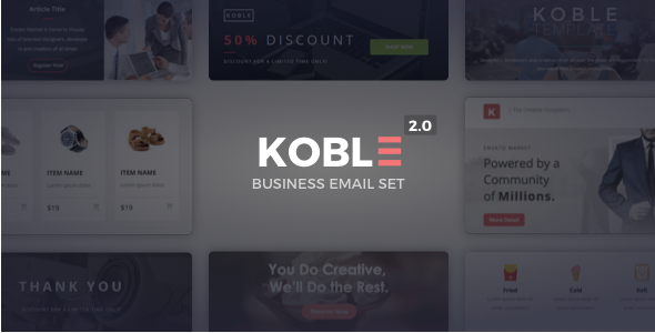 koble Best Html Email Templates 2016 wpshopmart