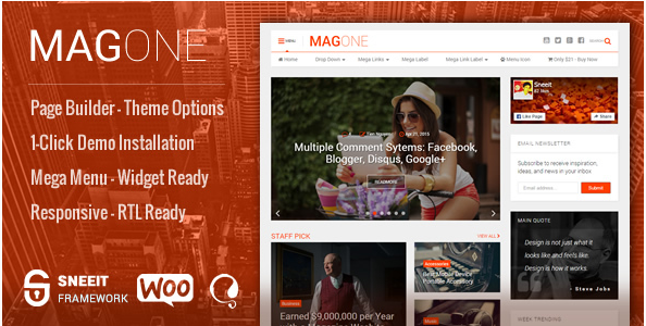 mag one Best Responsive WordPress Affiliate and Coupon Themes
