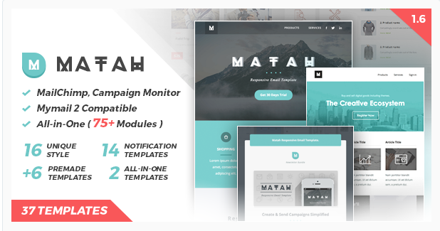 matah Best Email Templates wpshopmart