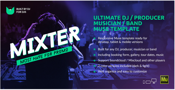 mixter Popular Muse Templates