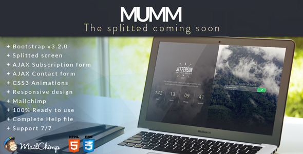 mumm Best Html Coming Soon And Under Construction Templates
