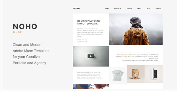 noho Most Popular Muse Templates wpshopmart