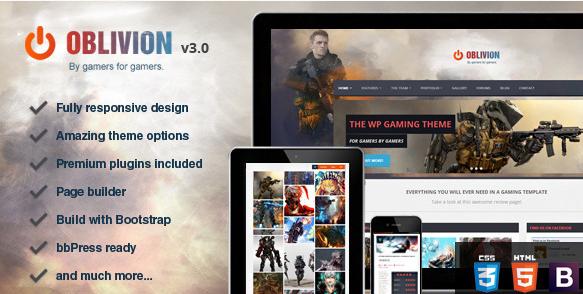 oblivion Best WordPress Gaming Themes