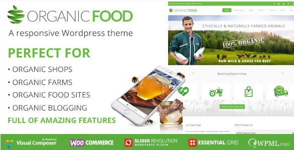 organic food Best Responsive WordPress Food Themes wpshopmart