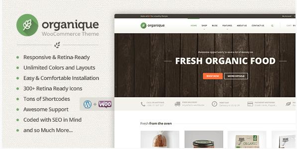 organique Best Responsive WordPress Food Themes wpshopmart