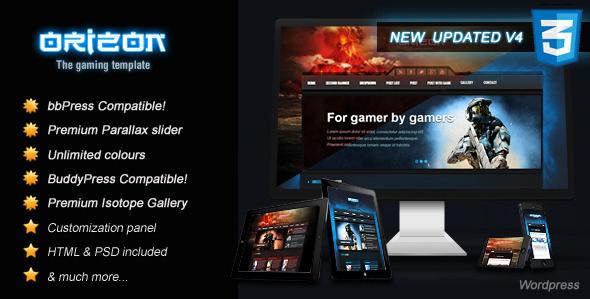 orizon Best WordPress Gaming Themes