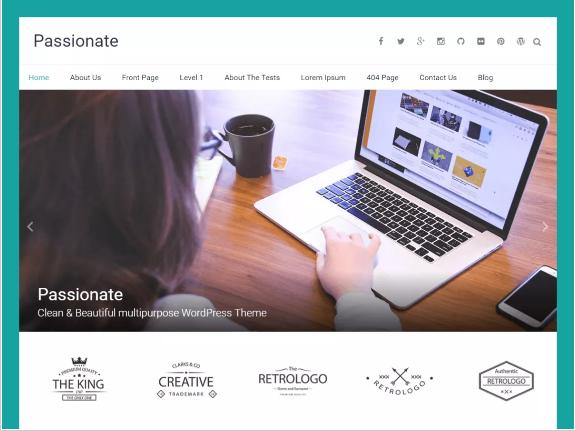 passionate Free Creative Agency WordPress Themes