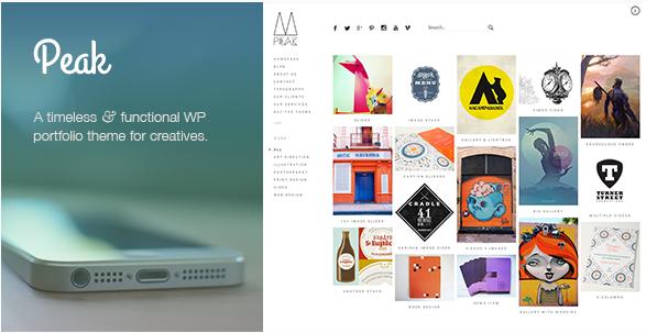 peak clique Best Responsive WordPress Portfolio themes wpshopmart