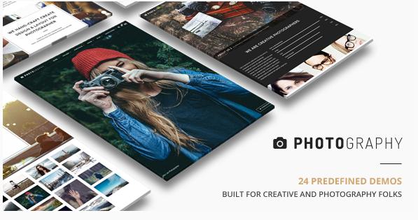 photo Best Dark WordPress Themes