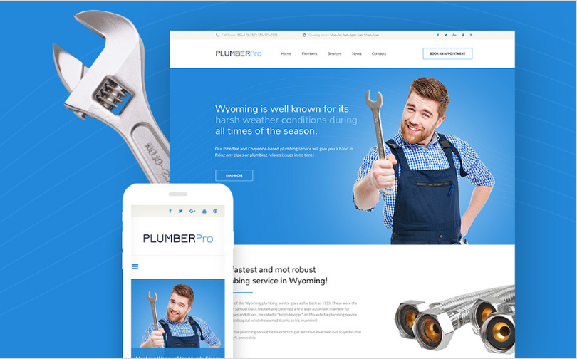 plumbing Best Corporate Html Templates