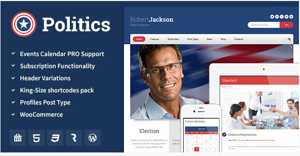 politics Best Political WordPress Themes wpshopmart