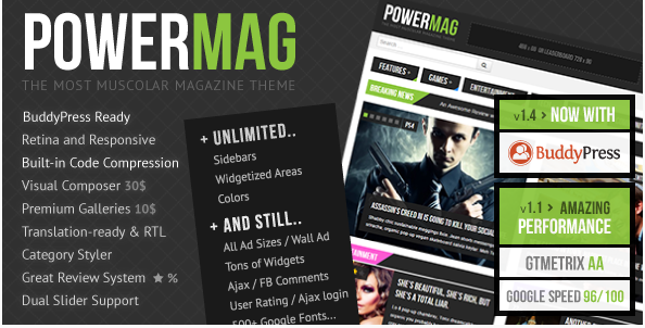 power mag Best Responsive WordPress Affiliate and Coupon Themes