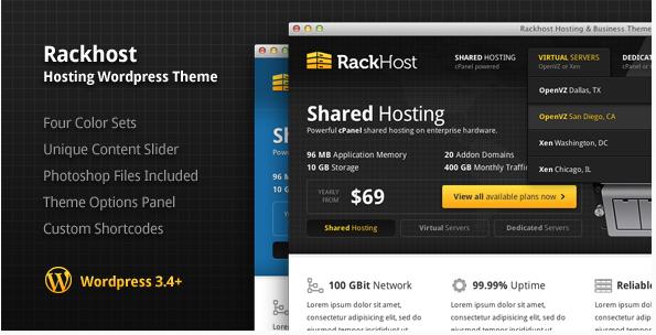 rack host Best Hosting WordPress Themes wpshopmart