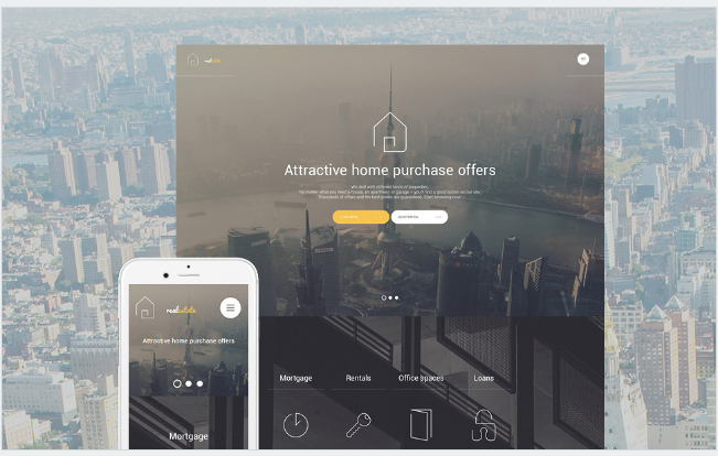 real estate Best Responsive WordPress Parallax Themes