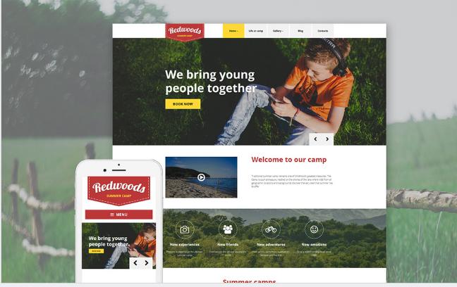redwoods Best Responsive WordPress Parallax Themes