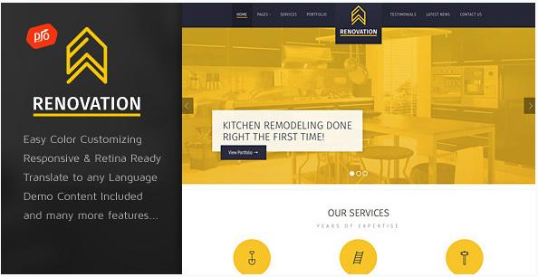 renovation Construction Company WordPress Themes wpshopmart