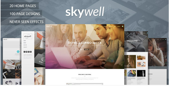 skywell Most Popular Muse Templates wpshopmart