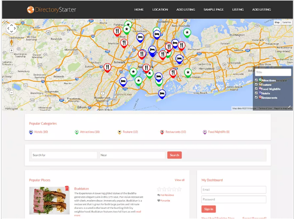 starter Best Free Directory WordPress Themes wpshopmart