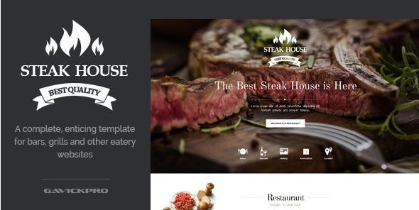 steak house Best Responsive WordPress Food Themes wpshopmart