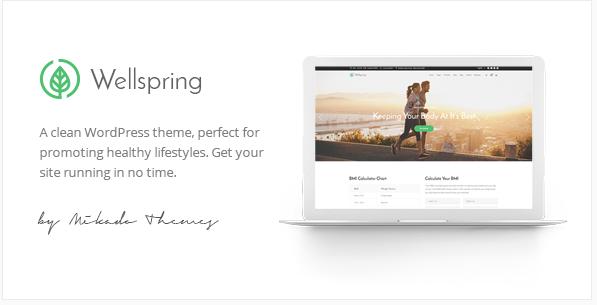 Well Spring: Best Responsive Most Popular WordPress Themes