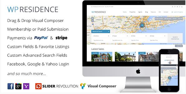wp residence Best Real Estate WordPress Themes wpshopmart