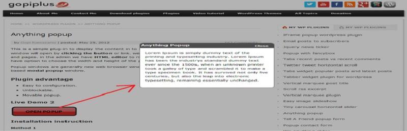 Anything Popup Free WordPress Popup Plugins