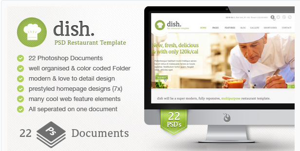 DISH: Best Food Restaurant PSD Templates