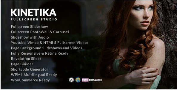 Kinetika - Fullscreen Photography Theme