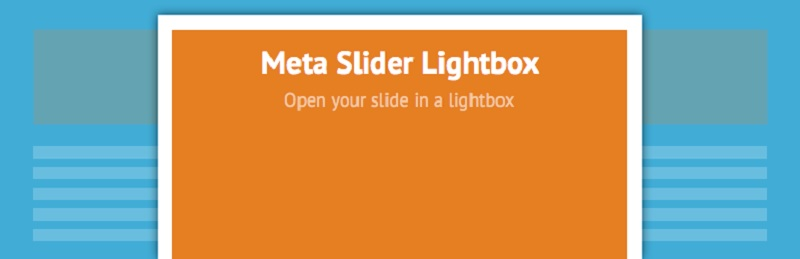 MetaSlider Lightbox