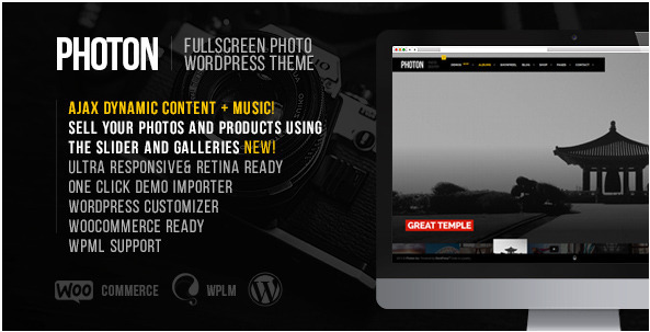 Photon  Fullscreen Photography WordPress Theme