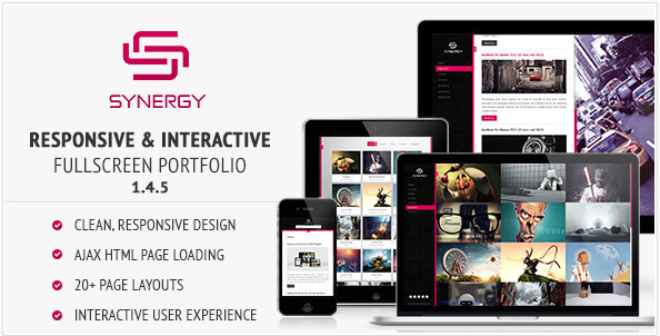 SYNERGY Best Creative Agency Portfolio Html Website wpshopmart
