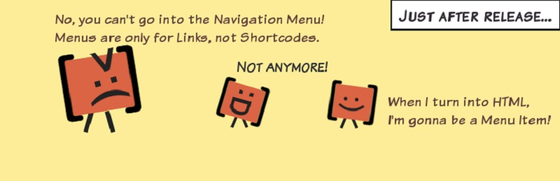 Shortcode in Menus