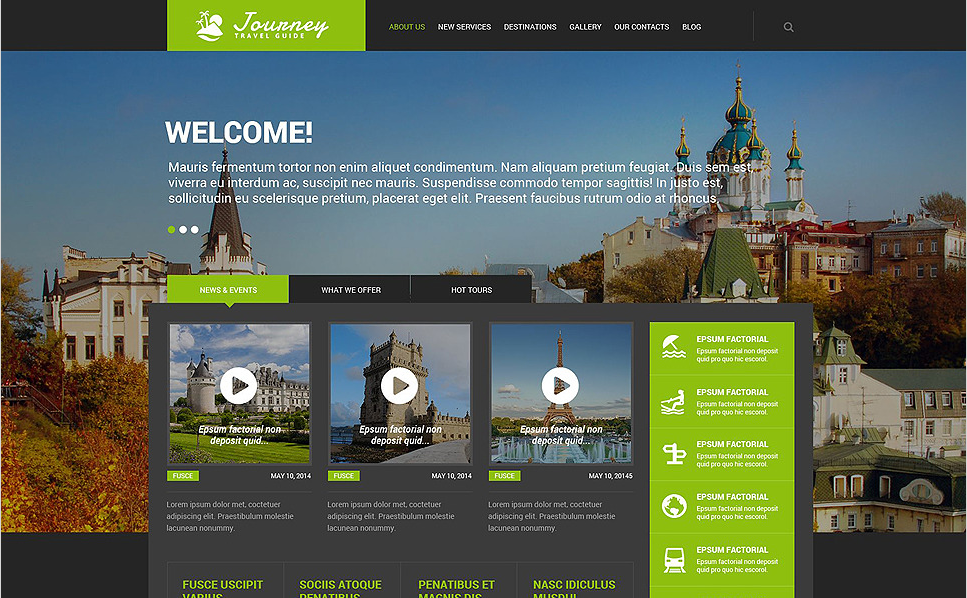 TRAVEL GUIDE Travel WordPress Themes