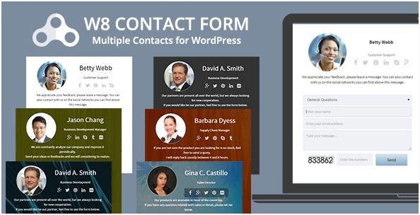 W8 best WordPress Contact Form Plugins wpshopmart