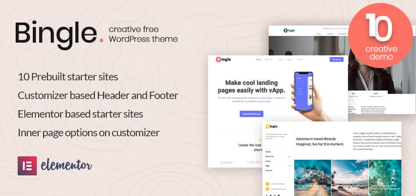 bingle free wordpress theme