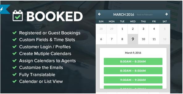 booked Best Premium WordPress Appointment Booking Plugins wpshopmar